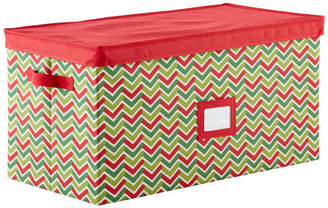 Container Store Holiday Storage Chest Chevron