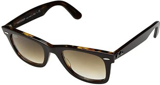 Ray-Ban RB2140 Original Wayfarer 50mm (Top Brown/Yellow Havana/Clear Gradient Brown) Plastic Frame Fashion Sunglasses