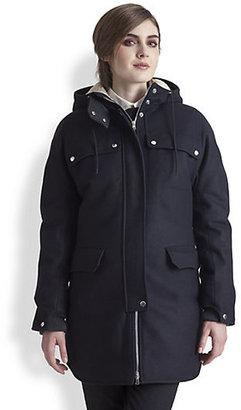 Marni Wool & Cashmere-Blend Hooded Coat