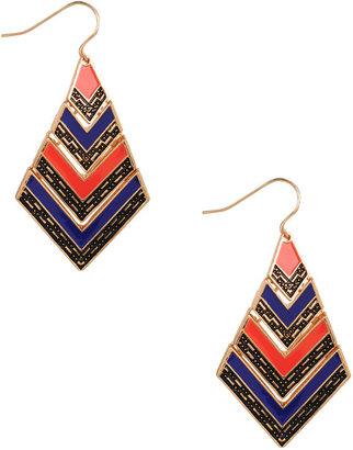 Forever 21 Colorblocked Tribal Earrings