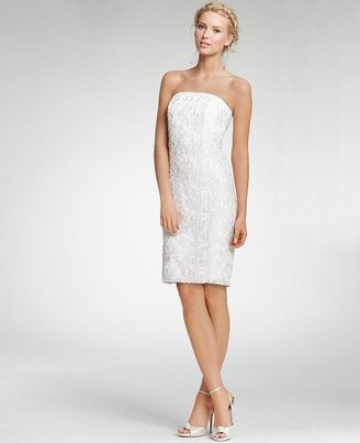Ann Taylor Lace Strapless Dress