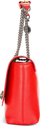 Lanvin Poppy Red Leather Happy Edgy Medium Shoulder Bag