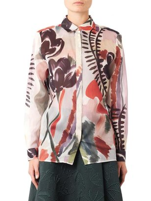 Burberry Abstract Floral-print shirt