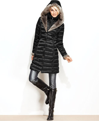 Shelli Segal Laundry by Coat, Faux-Fur-Lined Hooded Puffer