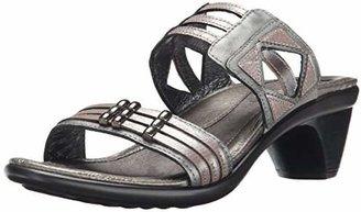 Naot Footwear Women's Afrodita Sandal Sterling Lthr/Silver Threads Lthr/Mirror Lthr 11 M US