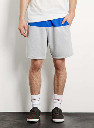 Topman Grey Colour Block Shorts