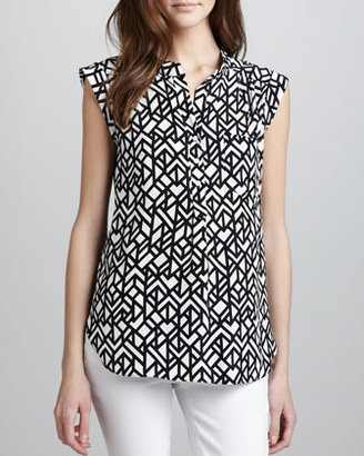 Alice & Trixie Scout Printed Sleeveless Blouse