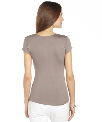 Chloé brown stretch cotton scoop neck 'Chloe' t-shirt