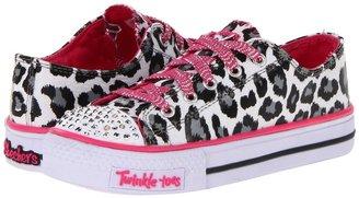 Skechers Twinkle Toes - Shuffles 10272L Lights (Little Kid/Big Kid) (White) - Footwear