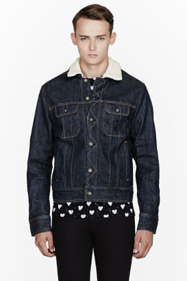 Rag and Bone RAG & BONE Deep Indigo Shearling Denim Jacket