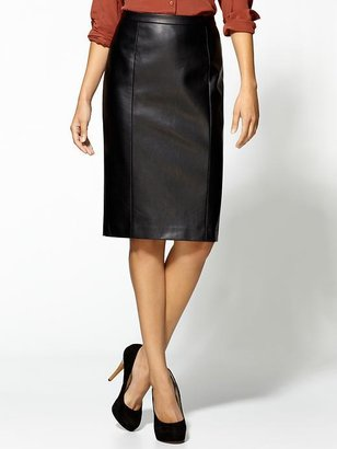 See by Chloe Tinley Road Vegan Leather Pencil Skirt