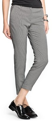 MANGO Houndstooth print suit trousers