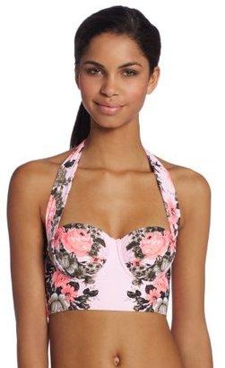 Seafolly Women's Bella Rose Long Line Bustier Bikini Top
