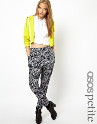 Asos Exclusive Peg Trousers In Heart Print