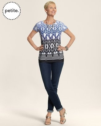 Equinox Petite So Slimming By Chico's Wash Zip Detail Ankle Jean