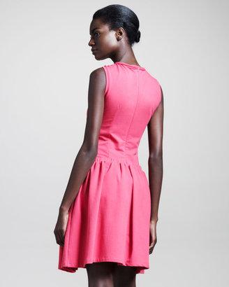Carven Molleton Sleeveless Cotton Dress