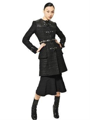 Givenchy Nappa & Wool Tweed Bouclé Coat