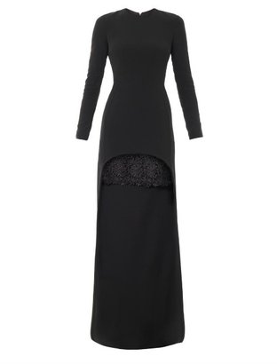 Stella McCartney Millie cady lace trim dress