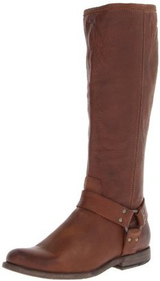 Frye New Phillip Harness Tall Cognac Soft Vintage Leather Boots Ladies