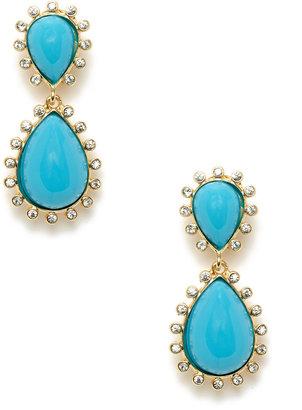 Kenneth Jay Lane Turquoise Teardrop Drop Earrings