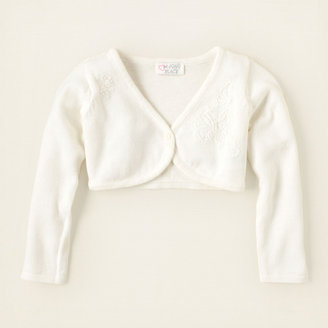 Children's Place Butterfly embroidered cropped cardigan sweater