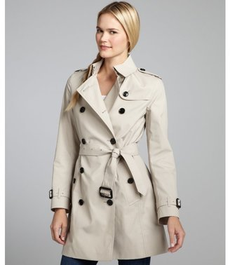 Burberry khaki cotton blend d-ring belted trench coat