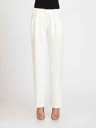 See by Chloe Textured Front-Pleat Pants
