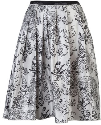 Jil Sander Navy Pleated skirt