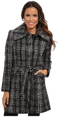 DKNY Novelty Tweed Trench 49212X-Y4 $165 thestylecure.com