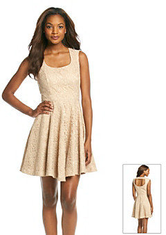 Jessica Simpson Lace Fit And Flare Dress