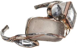 Sandra Dini Rutilated Quartz & Crystal Cuff Bracelet