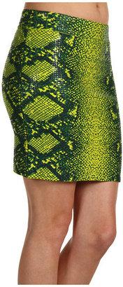 BCBGMAXAZRIA Simone Snake-Print Skirt