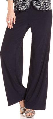Alex Evenings Pants, Wide-Leg Jersey