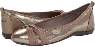 DKNY Sophie (Dark Platinum Lurex Suede) - Footwear