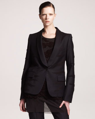 Maison Martin Margiela Tiger Embroidered Shawl-Collar Jacket