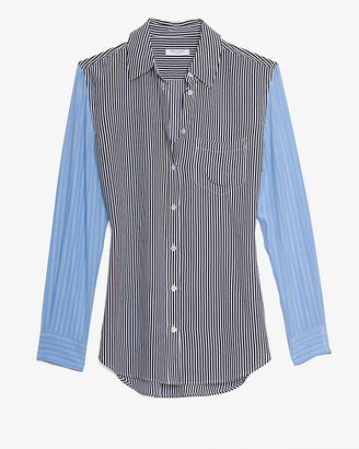 Equipment Reese Menswear Inspired Stripe Pattern Blouse