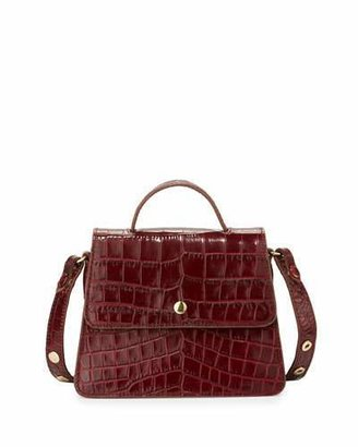Elizabeth and James Eloise Mini Crocodile-Embossed Satchel Bag $395 thestylecure.com