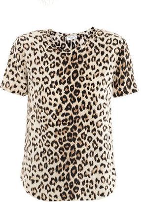Equipment Riley leopard-print silk T-shirt