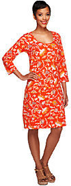 Liz Claiborne New York 3/4 Sleeve Floral Print Knit Dress $13.81 thestylecure.com