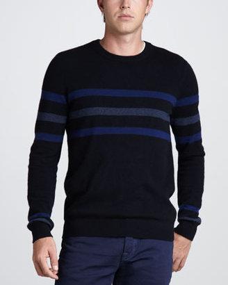 Vince Chest-Stripe Cashmere Sweater