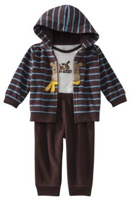 Carter's JUST ONE YOU Made by Infant Boys' 3 Piece Moose Cardigan Set - Brown/Blue