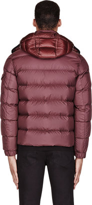 Moncler Burgundy Quilted Hymalay Jacket