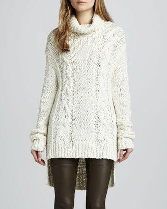 Rachel Zoe Micah Cable-Knit Tunic Sweater