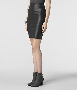 AllSaints Metal Pencil Skirt