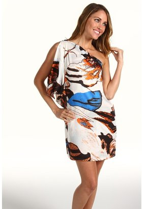 T-Bags Tbags Los Angeles - One Shoulder Tunic Dress (CA 4 Print) - Apparel