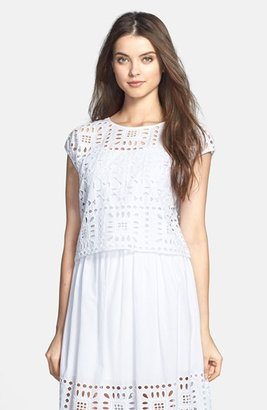 Vince Camuto Two by Eyelet Crop Top