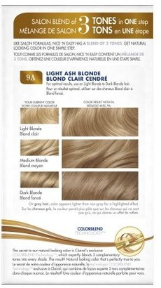 Clairol Nice 'n Easy Color Blend Foam Permanent Haircolor Light Ash Blonde 9A