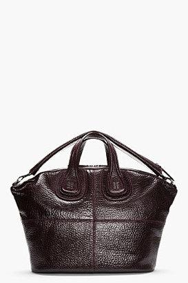 Givenchy Purple full grain leather Nightingale duffle