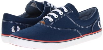Fred Perry Moffitt Twill (Insignia Blue/White/Tropical Red) - Footwear