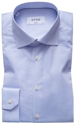 Eton Light Blue Signature Twill Shirt - Super Slim Fit